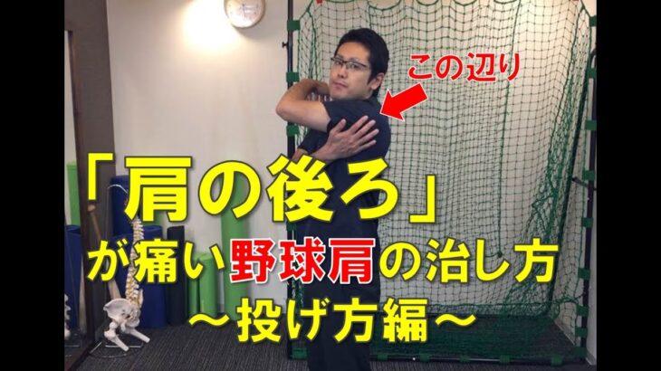 「肩の後ろが痛い」野球肩の治し方~投げ方編~|野球肩・野球肘専門 京都北区 MORIピッチングラボ