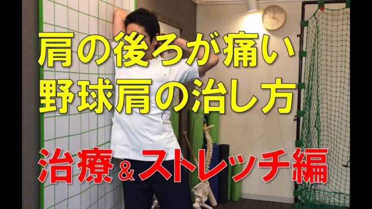 肩の後ろが痛い野球肩~治療&ストレッチ編~|野球肩野球肘専門 京都市北区 MORIピッチングラボ