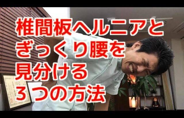 椎間板ヘルニアとぎっくり腰の違いを見分ける3つの方法〜大阪の整体〜