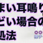 めまい耳鳴りがひどい場合の対処法【精神科医・樺沢紫苑】