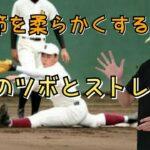 【野球肘・野球肩】を予防、改善する股関節を柔らかくする方法
