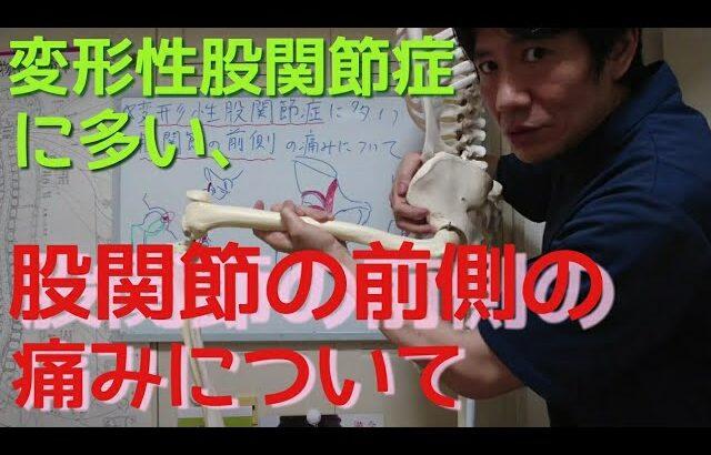 変形性股関節症に多い、股関節の前側の痛みについて。