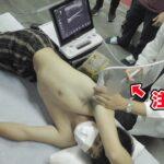 肩が壊れたタケトラ…投手生命の危機です。巨大注射を打ちます。