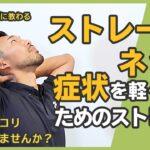 【ストレートネックとは】スマホ首の原因|症状を軽くするためのストレッチ