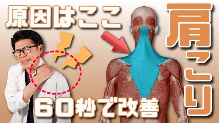 超簡単!肩こりを60秒で解消するストレッチ!根本的に改善!