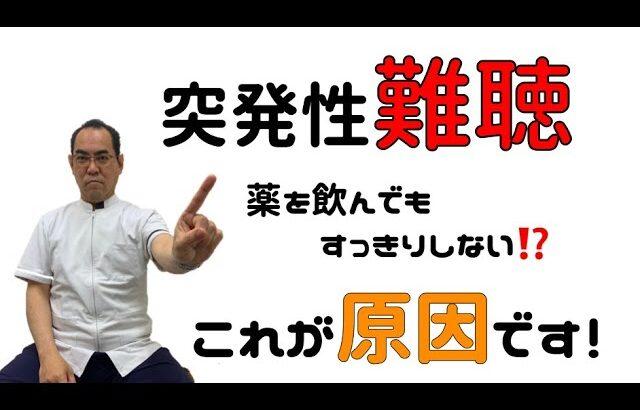 突発性難聴 薬を飲んでもすっきりしない⁉これが原因です! | 大阪府堺市ゆとり鍼灸治療院