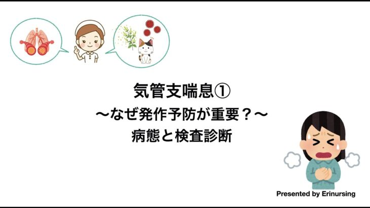 気管支喘息①|なぜ発作予防が重要?まずは病態と検査診断について