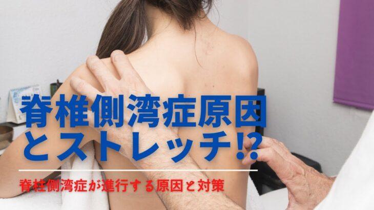 脊椎側湾症とは?脊椎側湾症になる原因とストレッチについて解説をしました!